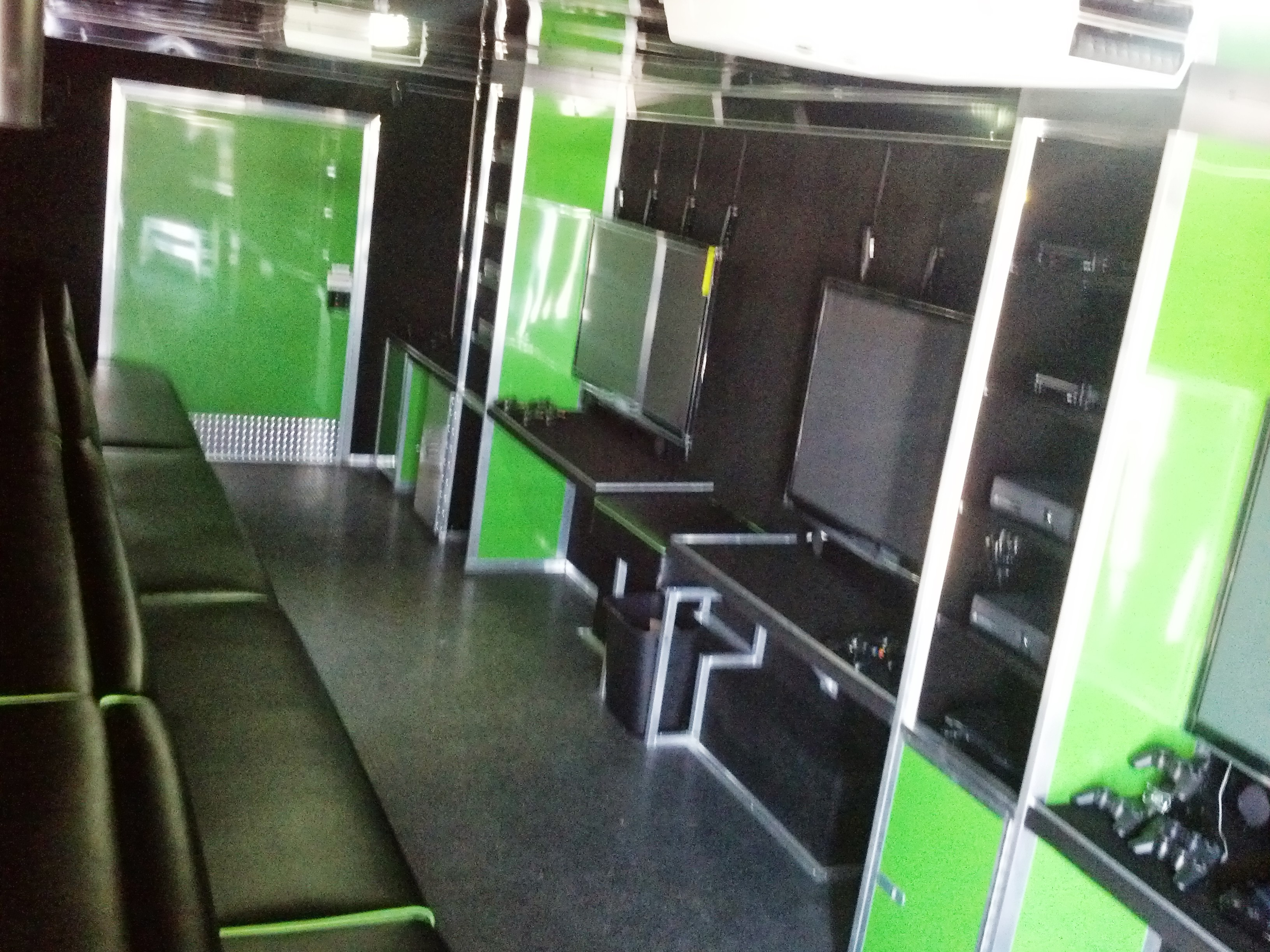 Arctic Green Interior from front 5 TVs
