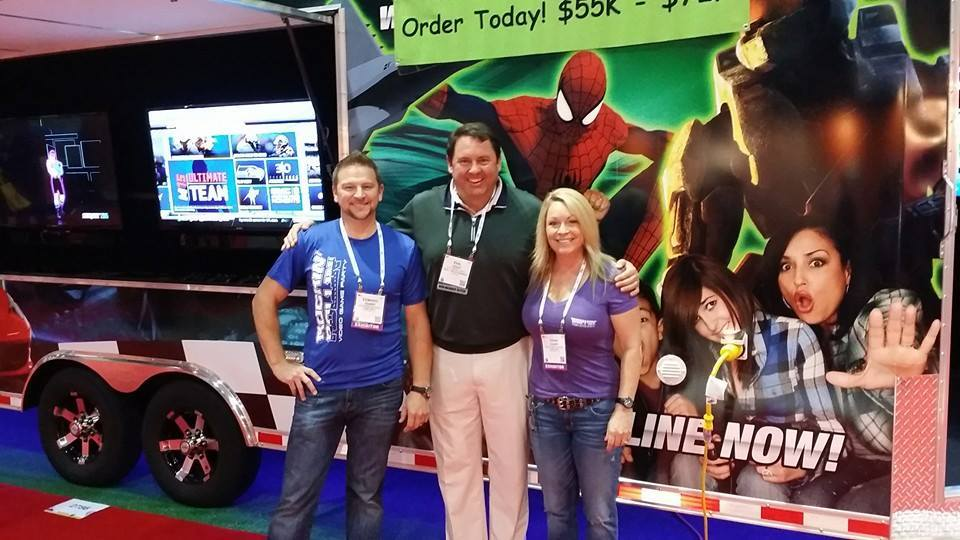 Edward Gainer, Phil Leddy (Owner of Gaming Trailer) and Dana Gainer