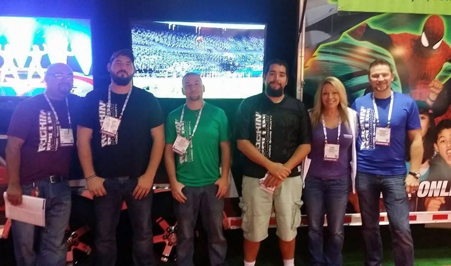Rockin' Rollin' Video Game Party Team IAAPA 2014!